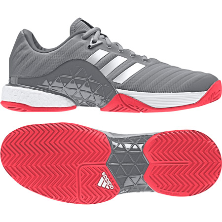 Pánská tenisová obuv adidas Barricade 2018 Boost Grey - náhled aaabc08357